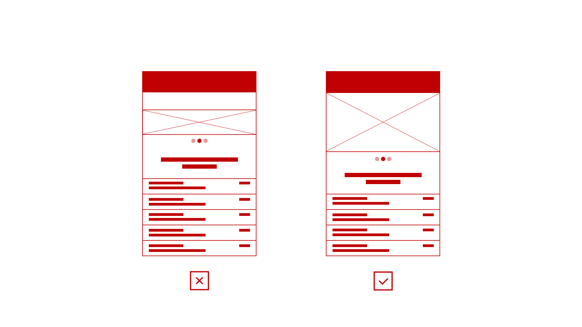 Use of heavy images on mobile devices reflects on slow loading pages, its best to reduce or optimise images for mobile devices.