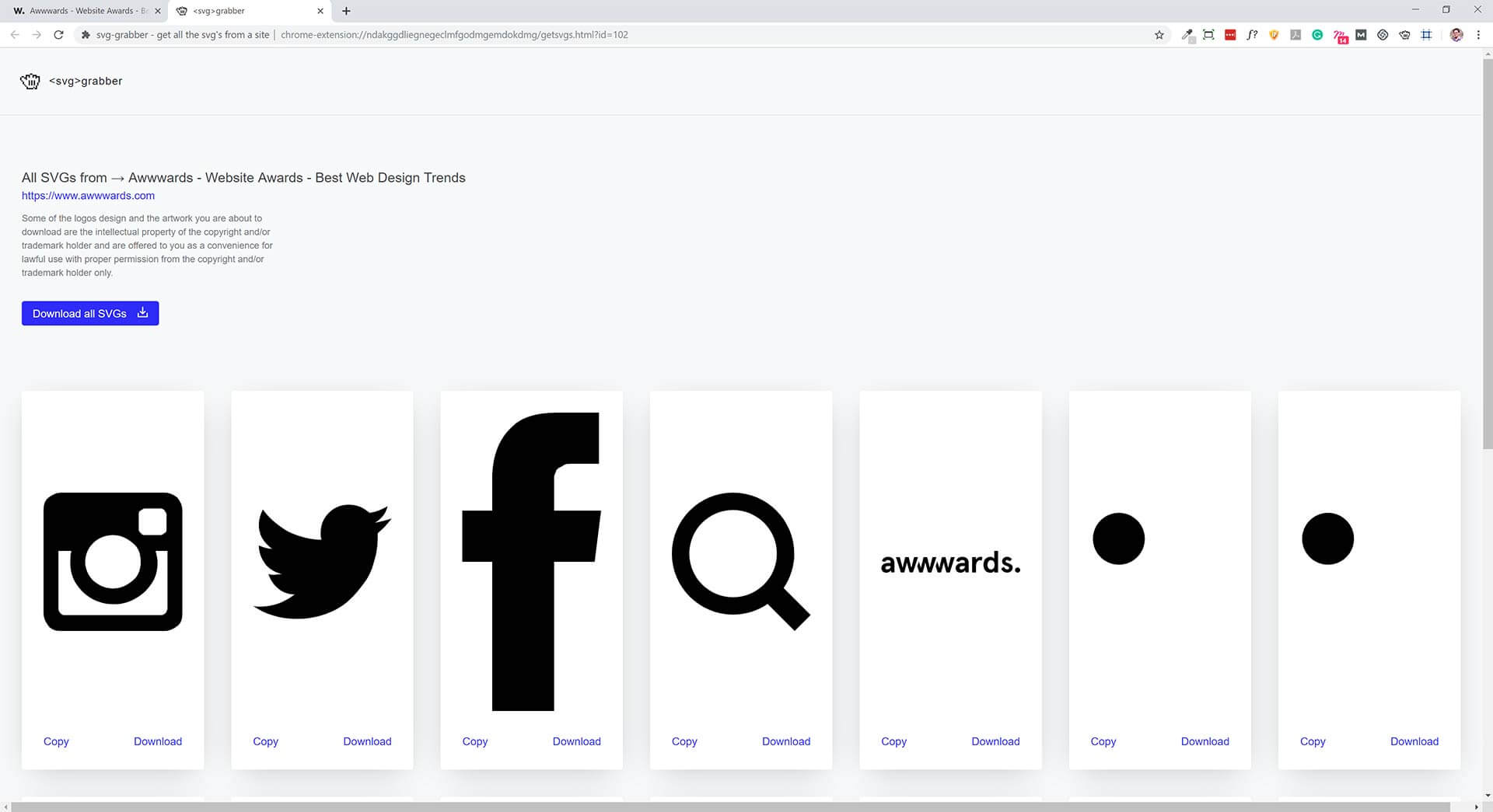 Looking to improve your SVG grabbing experience - this is the right tool for you.